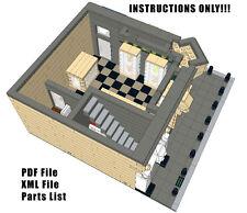 Lego Custom Modular Building Corner Shop & Apartments INSTRUCTIONS ONLY!! 10182