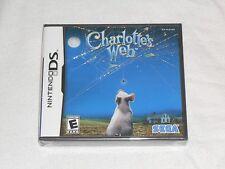 NEW Charlotte's Web Nintendo DS Game FACTORY SEALED US Version Sega sharlotte's