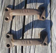 2 Rustic Cast Iron Gate Handles Fence Opener Door Cabinet Drawer Pull Metal Grip