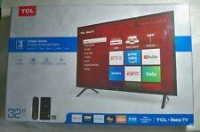 """TCL 32"""" Inch HD 720P Smart LED LCD HDTV 60hz TV USB 3x HDMI 32S325 Flat Screen"""
