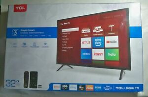 "TCL 32"" Inch HD 720P Smart LED LCD HDTV 60hz TV USB 3x HDMI 32S335 Flat Screen"