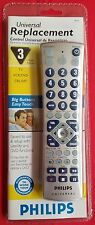 Philips Universal Remote Control PM335 for 3 Devices Big Buttons - NEW