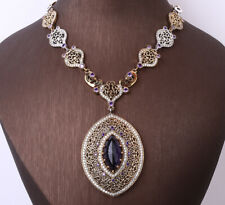 100 Grams Ottoman Amethyst .925 Silver & Bronze Necklace #28390