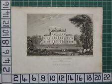 1830 fechado Antiguo impresión finchcocks en goudhurst Kent Asiento De Richard springett