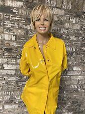 Totes Shiny PVC Vinyl Yellow Raincoat Slicker/Rain Jacket/Coat