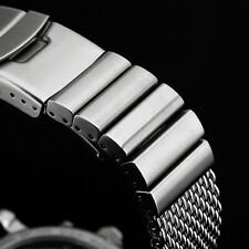 22 · MILANAISE Uhrenarmband  GLANZ POLIERT Mesh EXTRA MASSIV Band Edelstahl Uhr