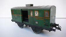 """TRAINS  HORNBY  """"0"""" FOURGON 1 S  TÔLE LITHO   1950/63   TRÈS BON ÉTAT 18 cm"""