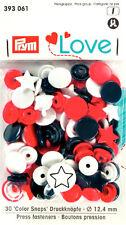 30  Nähfrei-Druckknöpfe Prym Love Color-Snaps  STERN  rot/weiß/marine  393 061