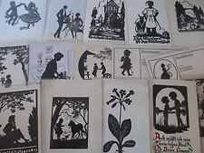 Scherenschnitt Nachlaß Karton, über 220 Karten bis ca. 1940 aus Sammlung