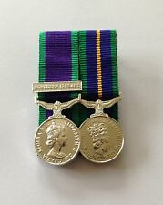Court Mounted Miniature Medals, GSM Northern Ireland & ACSM Medal, Mini, Army