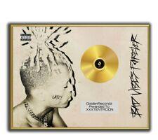 XXXTENTACION Poster Bad Vibes Forever GOLD/PLATINIUM CD, gerahmtes Poster HipHop