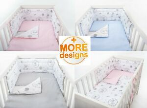 BAMBI STYLE BABY BEDDING SET COT OR COT BED inc BUMPER+COVERS+DUVET+ FLAT PILLOW