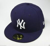 NEW ERA 59Fifty MLB Fitted Hat New York Yankees Navy Blue Cap Men