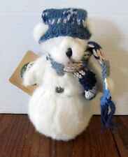 Boyds Bears plush from The Archive Collection -- Snowman w/ blue scarf & hat
