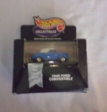 """Hot Wheels Collectible Display Case 1940 Ford Convertible Diecast Multi Piece 3"""""""