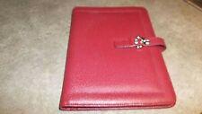 Franklin Covey Red Genuine Leather Padfolio Organizer Classic Size 55x85