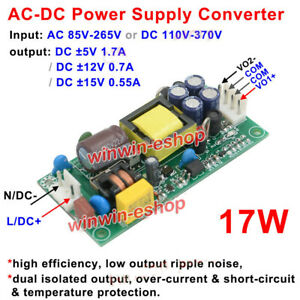 AC-DC 110V 220V 230V to DC ±5V ±12V±15V Dual Output  Down Switching Power Supply