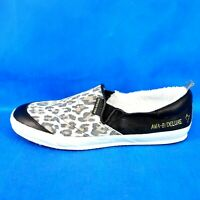 Ama Brand Deluxe Ladies Shoes Slip on Sneaker Size 41 Leather Animal Np 149 Neu