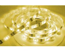 Striscia strip led smd 5050 300 led 5mt luce calda con alimentatore 5A IP66