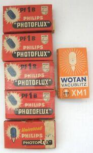Philips Photoflux PF1B Flashbulbs x 23  Wotan Vacublitz XM1 Flashbulbs x 3