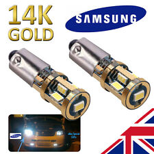 BMW SUPER BRIGHT 14K Gold Samsung H6W LED Side Bulbs STRONG CANBUS