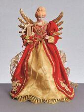 Adornos de color principal rojo de ángel para árbol de Navidad