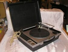 Vintage RCW Solid State Portble Record Player - Plays 78, 45, 33, 16 RPM - Parts