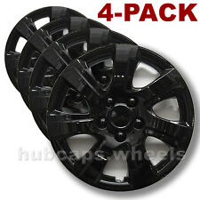 Premium Black Hubcaps Fit Toyota Camry 2010-2011 - 16-inch Replacement Set of 4