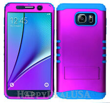 KoolKase Hybrid Silicone Cover Case for Samsung Galaxy Note 5 - Purple (R)