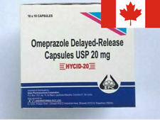 Omeprazole OTC 20mg 100 Capsules EXP-09/2022 ship via Canada Post. Fast&Reliable