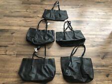 Lot of 5 New Saks Fifth Ave makeup bag tote all purpose handbag beach bag black