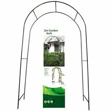 NEW METAL GARDEN ARCH HEAVY DUTY STRONG ARCHWAY TUBULAR ROSE CLIMBING PLANTS