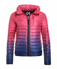 New Womens Superdry Power Fade Jacket Ink