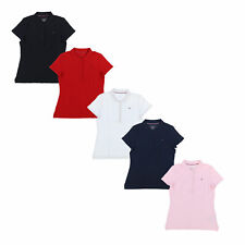 Tommy Hilfiger Womens Polo Shirt Classic Fit Top Mesh Casual Blouse S M L New