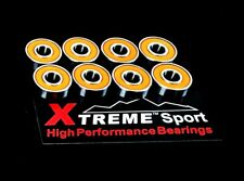8 Pack 627 RS 7mm ABEC-11 Xtreme HIGH PERFORMANCE BEARINGS ROLLER SKATE INLINE