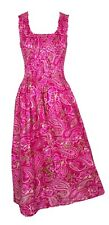 100% Cotton Long Boho Maxi Dress Party Evening Size 14 16 18 20 22 24 May19