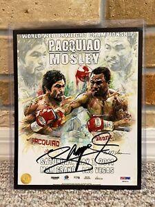 MANNY PACQUIAO SIGNED AUTO 8x10 BOXING PHOTO vs SHANE MOSLEY PSA #P90914 133