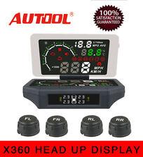 Autool X360 Auto OBD2 Smart HUD Display TPMS KMH/MPH L/H Voltage Holder Mount