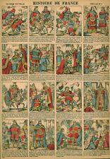 Gravure ancienne  image d'Epinal histoire de France feuille no 4