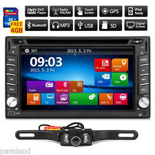 GPS Navigation Double 2Din Car Stereo DVD Player MP3 iPod BT+Camera+8GB MAP Card