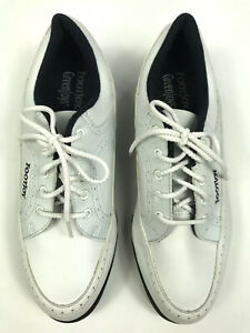 FootJoy GreenJoys Men's Size 8 M White Black Lace Up Spiked Golf Cleats / Shoes