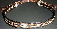 "Western Cowboy HAT BAND Woven 7 Strand Horsehair With Tassels 3/4"" Wide"