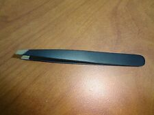 "New 3.5"" Eyebrow Tweezers SLANTED Precision Tip -  SOLID CLASSIC Design"