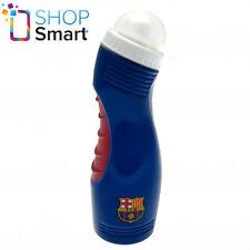 BARCELONA FC SOCCER TEAM WATER BLUE BOTTLE SPORTS PLASTIC EASY GRIP OFFICIAL NEW