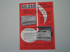 advertising Pubblicità 1964 GELOSO RADIO G 3401/FONOGRAFO G 3451