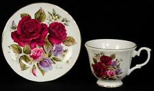 Duchess England Olde England Plum and Lavender Roses Cup and Saucer