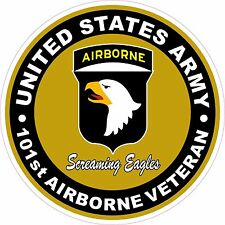 UNITED STATES Army Veteran 101st Airborne Screaming Eagles Decal Sticker