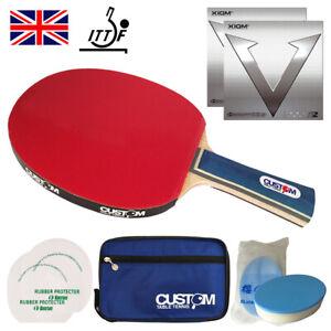 Xiom Vega Pro Custom Allround Table Tennis Bat Bundle New UK fast Post