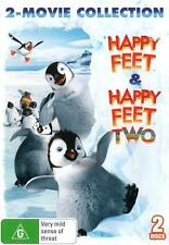 Happy Feet & Happy Feet Two (2-Movie Collection)  - DVD - NEW Region 4