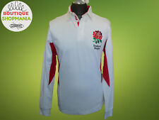 NWT ENGLAND Rugby Official Worn With Pride Long Sleeve RUGBY SHIRT 100% Cotton